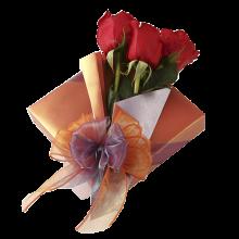 Sonnet cu 3 Trandafiri Naturali